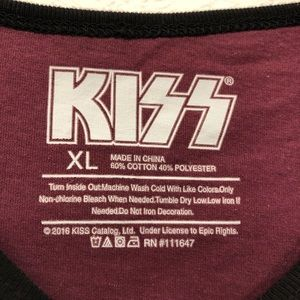Kiss Tops - KISS Rock Gods Graphic Ringer Tee Shirt